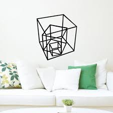 aliexpress com buy geometric shapes vinyl decal creative wall