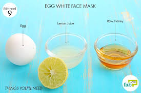 egg whites nourishes and tightens skin 1 egg
