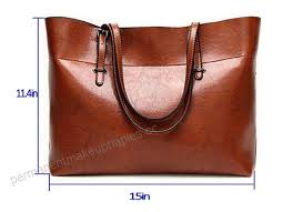 women s leather work tote large shoulder bag top handle handbag zipper closure wide b07bsgnfc8