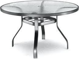 48 inch round patio table cover with umbrella hole glass aluminum round dining table with umbrella