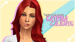 THE SIMS 4   Townie Makeover   Katrina Caliente + CC list & sim download -  YouTube