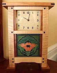 custom made mission arts crafts mantle clocks by dsa woodworking custommadecom mission wall clock kit national  on wall clock arts and crafts with antique vintage wm gilbert 1910 mission oak wall clock arts amp
