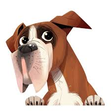 In Heaven Boxer Dog Illustration (Page ...