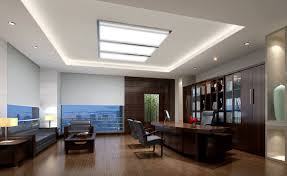 Suspended Ceiling And Furniture Set CEO Office Interior Design