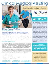 clinical medical assisting high desert medical college get to know our cma program