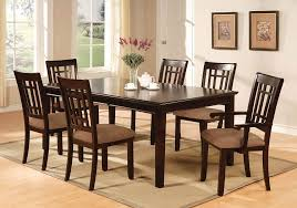 glass round dining table set com furniture of america madison 7 piece dining table set with 18 inch leaf dark cherry finish table chair sets