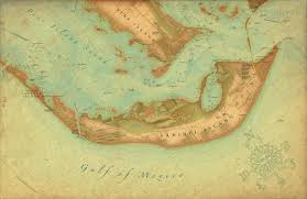 Sanibel Fl Vintage Style Map