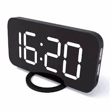amouhom led digital alarm clock with dual usb ports contemporary desk clock with