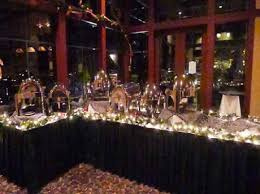 office christmas party decorations. Buffet Table With Lights And Garland Office Christmas Party Decorations