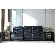 ashley reclining sofa damacio leather power in dark brown lenoris with drop down table