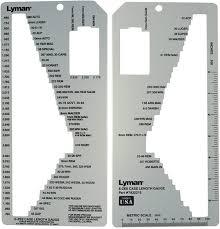 Cartridge Length Chart Lyman E Zee Case Gauge Measures Over 70 Cartridge Types
