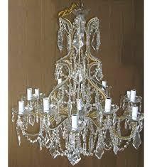 18th century pristine kite crystal drop 12 light with murano glass chandelier