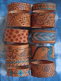all together leather carving leather art leather design leather leather cuff
