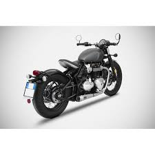 low stainless slip ons for triumph bobber