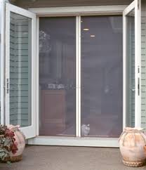 patio doors with screens. Exellent With Above Are Inside U0026 Outside Pictures Of Our Double Door Screen System  Installed On An Outswinging Door Note How Well This Product Blends In With  In Patio Doors With Screens