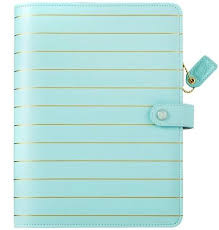 Websters Pages Color Crush A5 Faux Leather Planner Kit Blue