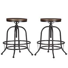 Berwick Industrial Style Round Counter-height Pub Adjustable Dining Set by  iNSPIRE Q Classic - Free Shipping Today - Overstock.com - 18012876