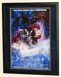 star wars peter mayhew originally hand signed poster premium framed certificate of