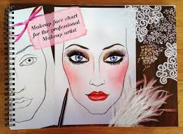 The Face Charts For Makeup Artists Note Workbook Makeup