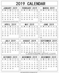 print a calendar 2019 calendar 2019 free print 2019 yearly calendar pinterest