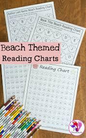 Summer Book Reading Chart Summer Reading Beach Themed Reading Charts 3 Dinosaurs