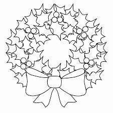 Christmas Wreath Coloring Sheet Weareeachother Coloring