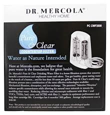 dr mercola pure and clear countertop water filter at luckyvitamin com