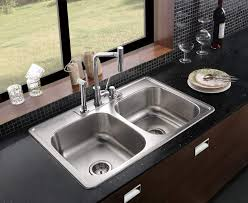 square undermount double sink