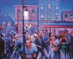 archibald john motley jr american harlem renaissance painter 1891 1981 casey and mae in the street 1948