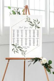 Seating Chart Template Seating Chart Wedding Editable Seating Chart Printable Greenery Printable Seating Chart Instant Download Pdf
