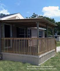 manufactured home porch designs-7a manufactured home covered porch and deck  ideas