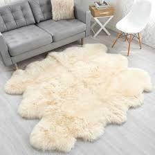 large champagne sheepskin rug 6 pelt to 5 5x6 ft special