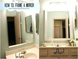 Diy Bathroom Mirror Frame Easy Glass Tile Mirror Frame Crafts Home