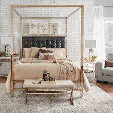 gold bed frame queen. Perfect Gold Shop Solivita Champagne Gold Queensize Metal Canopy Bed By INSPIRE Q Bold   On Sale Free Shipping Today Overstockcom 10395752 Intended Frame Queen 3
