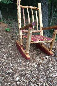 furniture rustic rocking chair pads wooden outdoor chairs cushions texas kit glamorous onther design idea