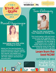 the work at home weekend expo oct  mariel uyquiengco and tina rodriguez