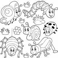 Small Picture Vibrant Design Bugs Coloring Page Bugs And Insects