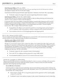 CFO Treasure Executive VP Resume