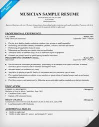 Musician Resume Example Interesting Download Free Musician Resume Example Resume Panion Document