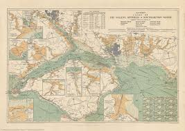 Mystanford Chart Stanfords Chart Of The Solent Spithead And Southampton Water 1932 A2 Wall Map Canvas