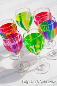 craft project pour paint wine glasses