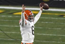 nfl baker mayfield helps browns defeat