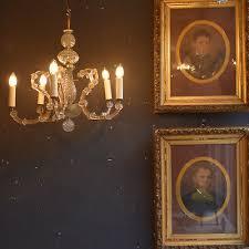 vintage cut glass venetian 5 arm chandelier professionally rewired italian light