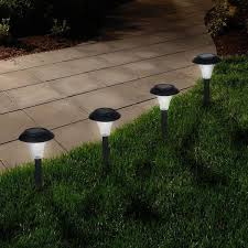 pure garden solar powered led black