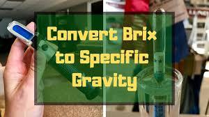 Brix To Sg Conversion Calculators Formula Table Alcohol