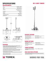 Genie Terex Rl4 Light Tower Specs Manualzz Com