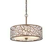 home decorators collection carousel 3 light burnished gold pendant with frosted glass diffuser