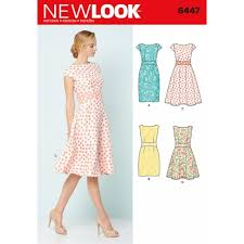 Fit And Flare Dress Pattern Simple New Look Misses' Slim Fit Or Flare Dresses Sewing Pattern 48