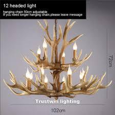 Us 4588 5 Offamerikanischen Europa Land Baum Zweig Vintage Retro Led Anhänger Licht Lampe Buck Deer Horn Geweih Moderne Decke Hängende Lampe