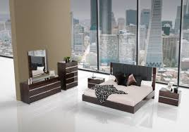 King Bedroom Sets Modern Italian Modern Ebony Lacquer Eastern King Bedroom Set